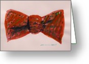 Bowtie Drawings Greeting Cards - Bowtie 1 Greeting Card by John  Williams