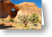 Bowtie Greeting Cards - Bowtie Arch near Moab Greeting Card by Gary Whitton