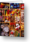 Watches Greeting Cards - Box With Compartments Greeting Card by Garry Gay
