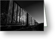Boxcar Greeting Cards - Boxcar Sunrise Greeting Card by Bob Orsillo
