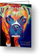 Dawgart Greeting Cards - Boxer - Harley Greeting Card by Alicia VanNoy Call