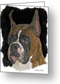Pure Digital Art Greeting Cards - Boxer Greeting Card by Larry Linton