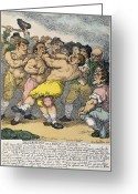 Referee Greeting Cards - Boxing Match, 1812 Greeting Card by Granger