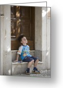 Lad Greeting Cards - Boy Greeting Card by Carl Deal