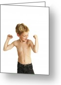 Body Image Greeting Cards - Boy Posing Greeting Card by Ian Boddy