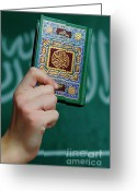 Koran Greeting Cards - Boys hand holding Koran Greeting Card by Sami Sarkis