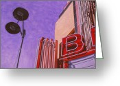 Photorealism Greeting Cards - Brackin Theater9 Greeting Card by Jeffrey Babine