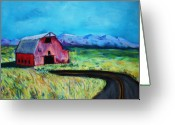 Lanscape Pastels Greeting Cards - Bradleys barn Greeting Card by Melinda Etzold