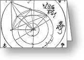 Accurate Greeting Cards - Brahes Planetary Orbits, 16th Century Greeting Card by Science Source
