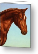 Horse Greeting Cards - Braided Greeting Card by James W Johnson