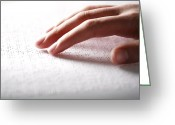 Fingertips Greeting Cards - Braille Reading Greeting Card by Mauro Fermariello