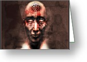 Drain Greeting Cards - Brainwashed Greeting Card by Robert  Adelman