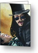 Vampire Painting Greeting Cards - Bram Stokers Dracula Greeting Card by Tom Carlton