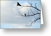 Passerines Greeting Cards - Branches Greeting Card by Gothicolors With Crows