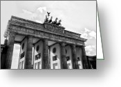 Tor Greeting Cards - Brandenburg Gate - Berlin Greeting Card by Juergen Weiss