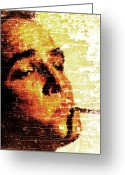 Marlon Brando Greeting Cards - Brando Greeting Card by Andrea Barbieri