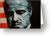 Marlon Brando Greeting Cards - Brando Greeting Card by Paul Lovering