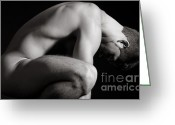 Nudes Photo Greeting Cards - Brandon Greeting Card by Carl Deal