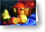 Still Life Greeting Card Greeting Cards - Brass Ensemble Greeting Card by Susan A Becker