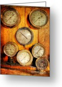 Locomotive Greeting Cards - Brass Gauge Collection Greeting Card by Paul Ward