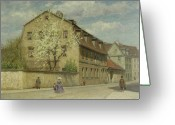 Europe Painting Greeting Cards - Braune Weimar Greeting Card by Christoph Martin Weiland