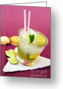 Chill Greeting Cards - Brazilian Cocktail Greeting Card by Carlos Caetano