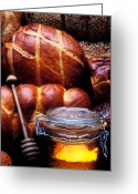 Fresh Greeting Cards - Bread and honey Greeting Card by Garry Gay