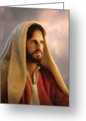 Head-shot Greeting Cards - Bread of Life Greeting Card by Greg Olsen