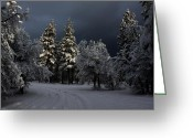 Lassen Greeting Cards - Break In The Storm Greeting Card by James Eddy