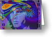 Jim Morrison Greeting Cards - Break on Through Two Greeting Card by Stefan Kuhn
