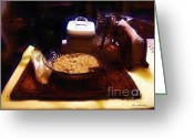 Oatmeal Greeting Cards - Breakfast of Champions Greeting Card by RC DeWinter