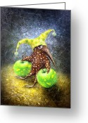 Fantasy Creatures Painting Greeting Cards - Breakfast on the Grass Greeting Card by Lolita Bronzini