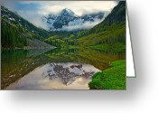 Most Photographed Photo Greeting Cards - Breaking Storm Greeting Card by Paul Gana