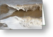Mundesley Greeting Cards - Breaking wave Greeting Card by Camera Rustica Bill Kerr