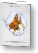 Goldfish Greeting Cards - Breath of Fresh Air Greeting Card by Rob Snow