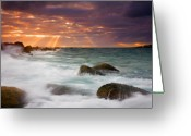 Seascape Greeting Cards - Breathtaking Greeting Card by Mike  Dawson