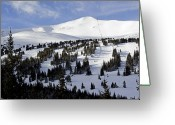 Winter Sports Photo Greeting Cards - Breckenridge Imperial Bowl and Peak 8 Greeting Card by Brendan Reals