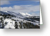 Mountain Summit Greeting Cards - Breckenridge Resort Colorado Greeting Card by Brendan Reals