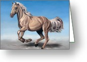 Horse Greeting Cards - Breeze Greeting Card by Ilse Kleyn