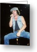 Acdc Greeting Cards - Brian Johnson Greeting Card by Rich Fuscia