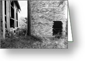 Round Barn Greeting Cards - Brick Silo Wales Greeting Card by Jan Faul