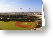 Baseball Print Greeting Cards - Bricktown Ballpark Greeting Card by Ricky Barnard