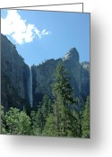 Yosemite Creek Greeting Cards - Bridalveil Falls on a summer day Greeting Card by LeeAnn McLaneGoetz McLaneGoetzStudioLLCcom