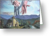Religious Art Painting Greeting Cards - Bridegroom Greeting Card by Larry Cole