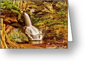 Bridesmaid Greeting Cards - Bridesmaid Falls Greeting Card by Nick Zelinsky