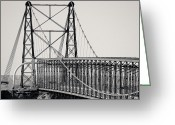 Cameron Greeting Cards - Bridge in Cameron I Greeting Card by Julie Niemela