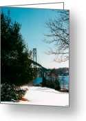 Fall Photographs Greeting Cards - Bridge in winter Greeting Card by Tom Prendergast