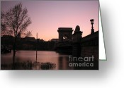 Screen Doors Greeting Cards - Bridge Greeting Card by Odon Czintos