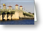 Florida Bridge Digital Art Greeting Cards - Bridge of Lions Greeting Card by David Lee Thompson
