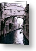 Canal Greeting Cards - Bridge of Sighs Greeting Card by Traveler Scout